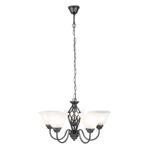 Picture of Havells Cupola 1 X 5LS E27 BLK Chandelier
