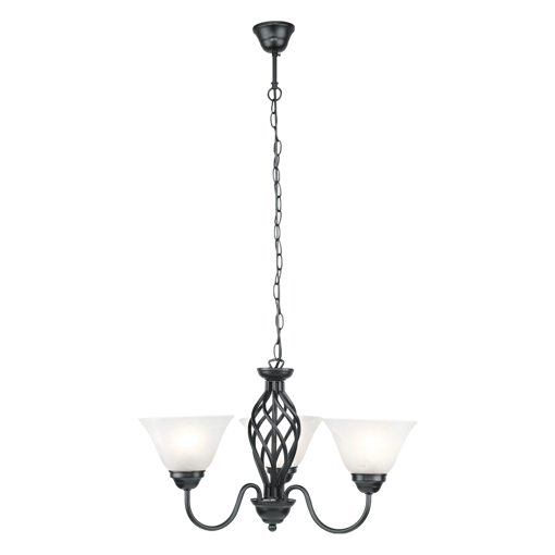 Picture of Havells Cupola 1 X 3LS E27 BLK Chandelier