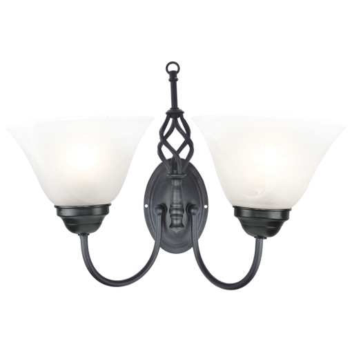Picture of Havells Cupola WL 2LS E27 BLK BRZ Wall Light